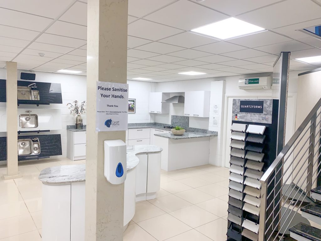 Sanitising Stations Throughout Our Premises