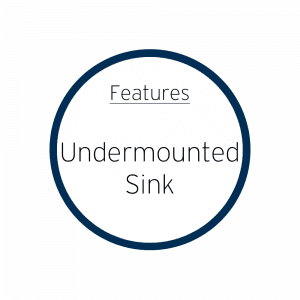 Features Undermounted Sink